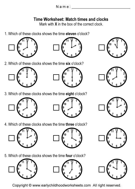 Printable Time Clock Worksheets Worksheets for all | Download and