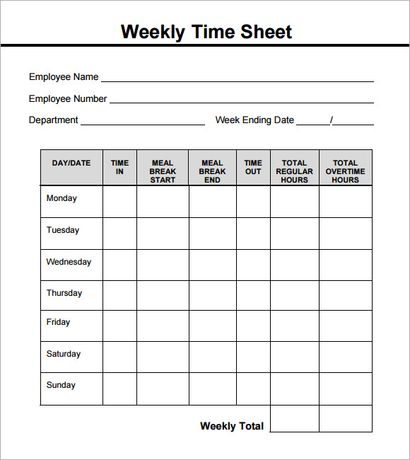 blank timesheets   Demire.agdiffusion.com