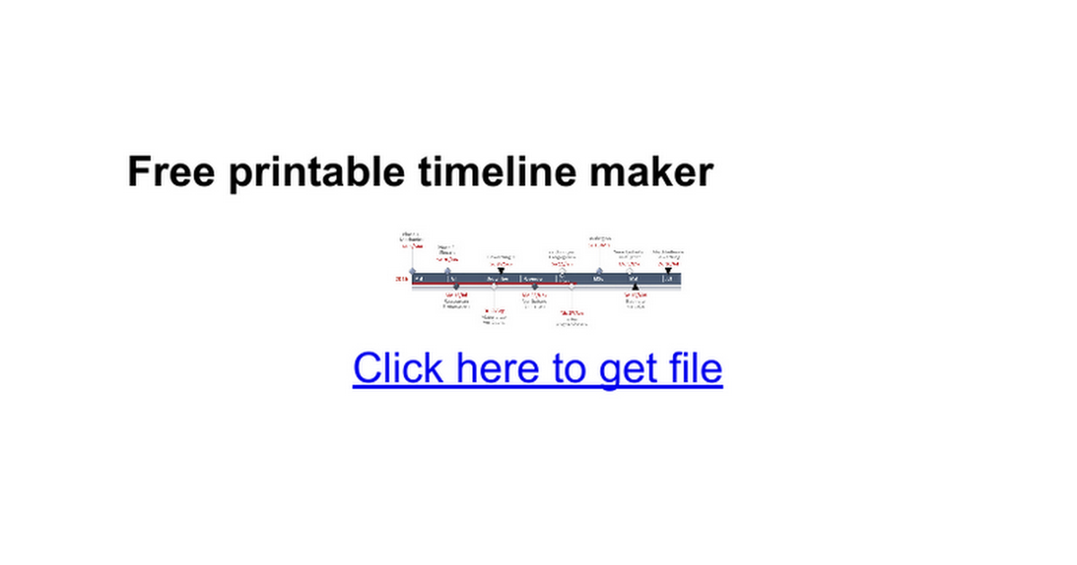 Free printable timeline maker   Google Docs