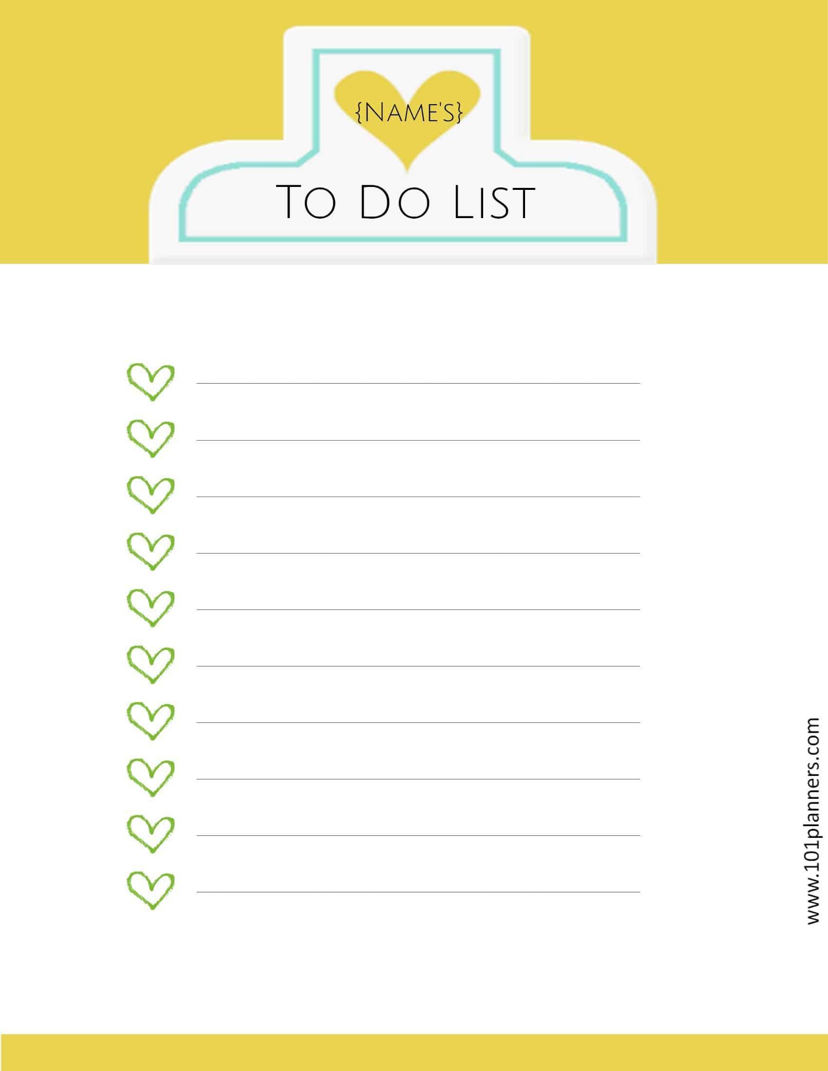 20+ Printable To Do Lists and Task List Templates