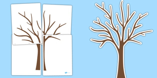 Large Tree Cut Out   large tree, tree, outline, cut out, display