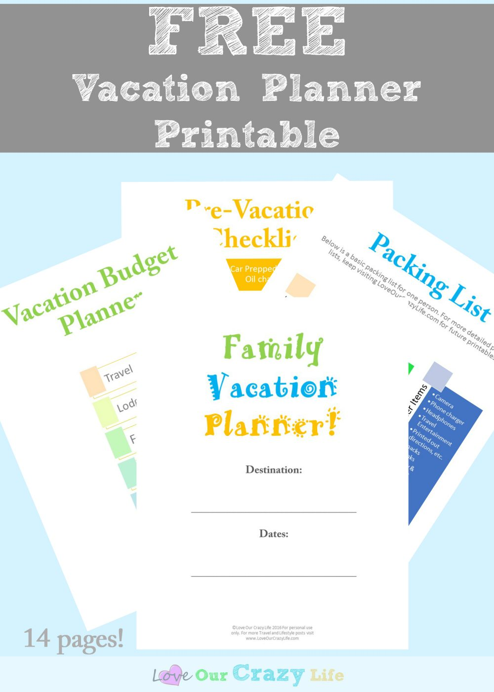 Family Vacation Planning Tips (Free Planner) | This Crazy