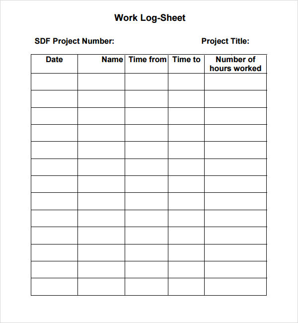 Free Printable Work Log Sheets: Download and Modify for Your Own