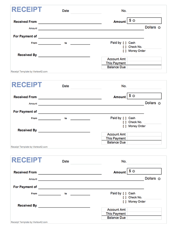 50+ Free Receipt Templates (Cash, Sales, Donation, Taxi)