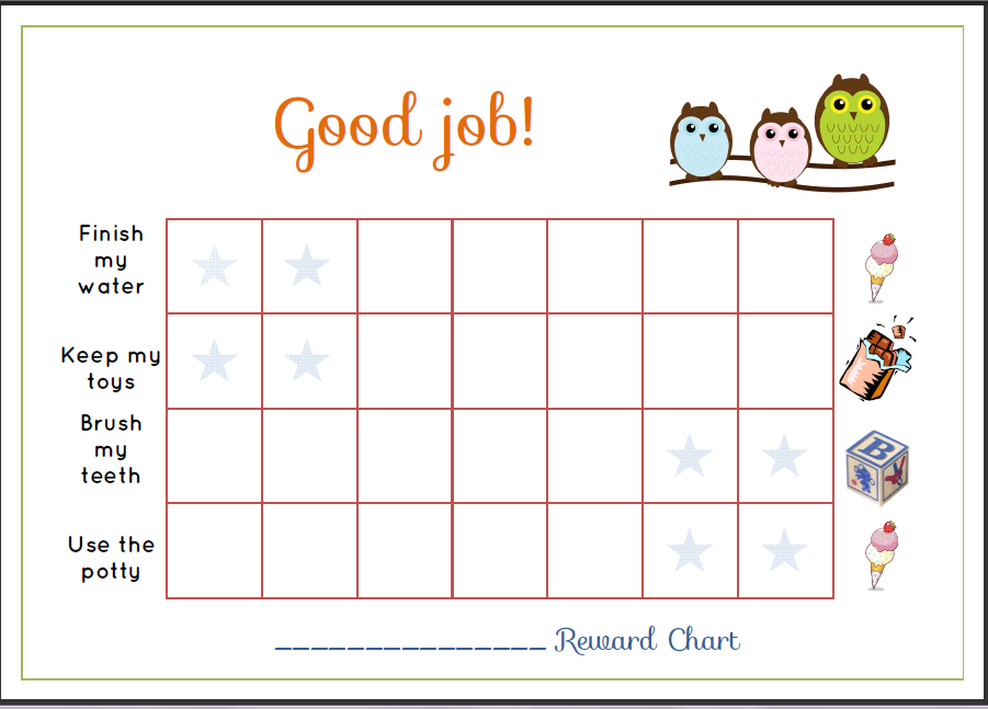 sticker chart for toddlers   Demire.agdiffusion.com
