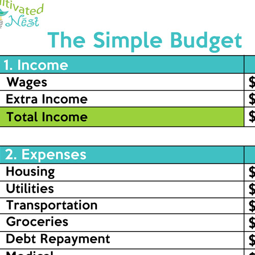simple budget sheet printable   Demire.agdiffusion.com