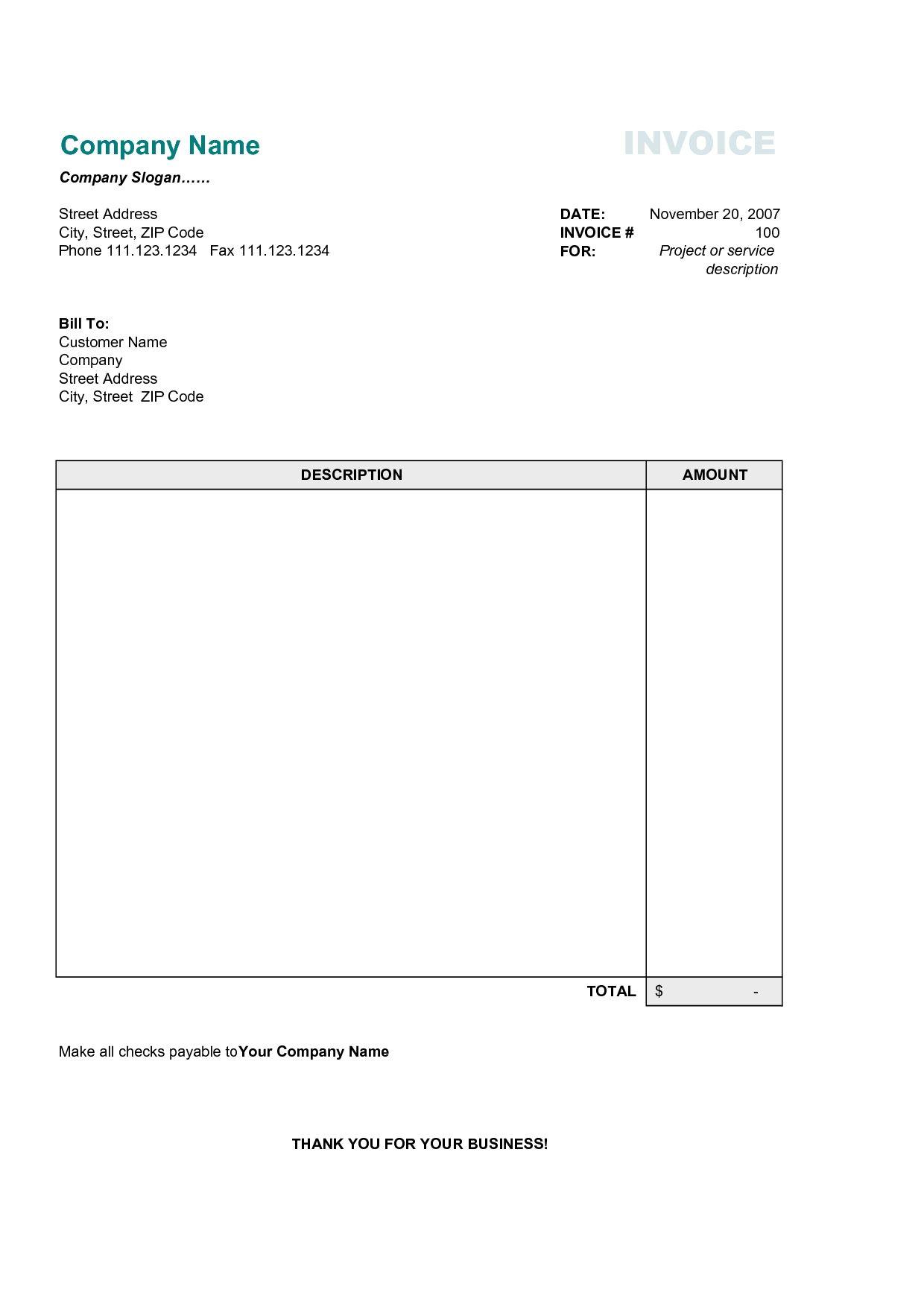 Simple Invoice Template