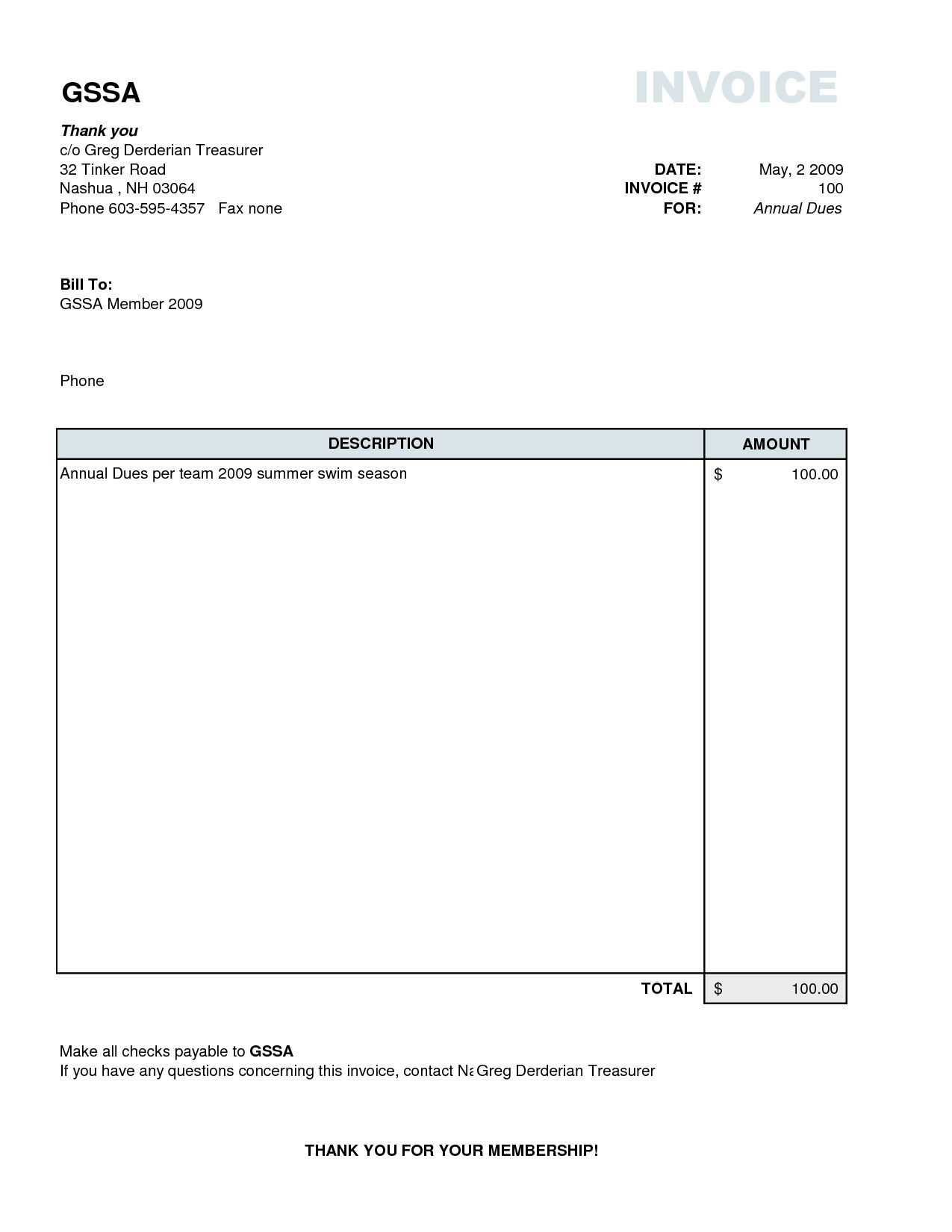 Invoice Forms Printable | charlotte clergy coalition