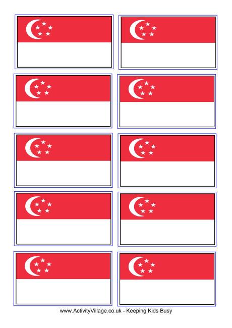 Singapore Flag Printables