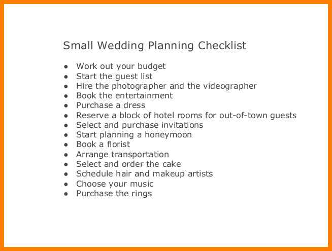 11+ small wedding checklist | phoenix officeaz