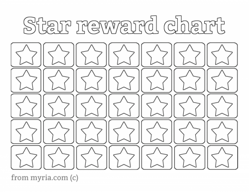 photograph about Printable Reward Charts identified as Star Charts Printable retail outlet fresh new