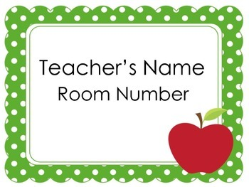 Teacher Door Signs | Door Signs | Door Signs and Names by Green