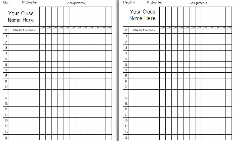 free gradebook template printable
