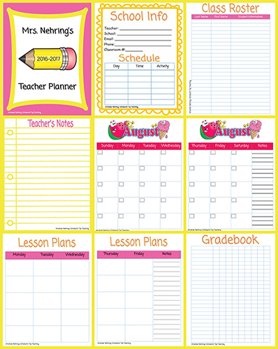 Teachers Planner Printable Shop Fresh