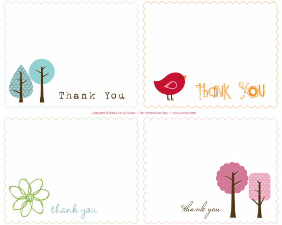 Thank You notes – a quick round up | Printables | Pinterest