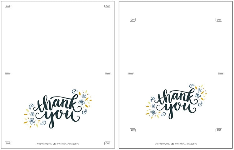 Thank You Note Template | bravebtr
