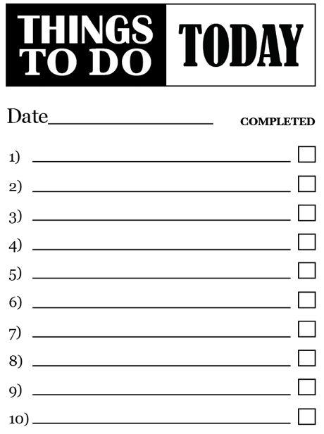 40 Printable To Do List Templates | Kitty Baby Love