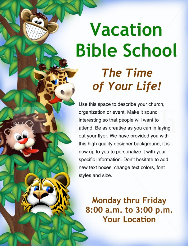 Vacation Bible School Flyer Template | Flyer Templates