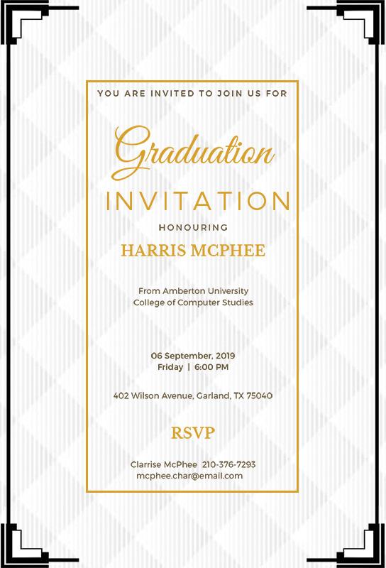 10 Graduation Invitation Free Template In Psd Shop Fresh