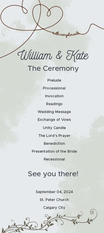 Free Wedding Ceremony Program Template from shopfreshboutique.com